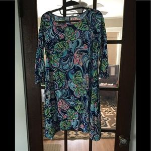 Lilly Pulitzer 3/4 Sleeve Swing style dress-SM